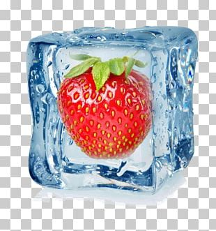 Strawberry Ice Cube Stock Photography Fruit PNG