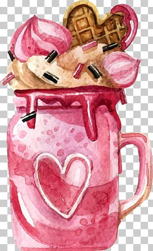 Hand-painted Watercolor Dessert PNG