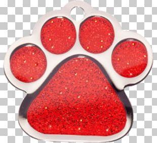 Pet Tag Dog Tag Engraving Red PNG