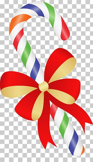 Candy Cane Ribbon Candy Christmas Day Stick Candy PNG