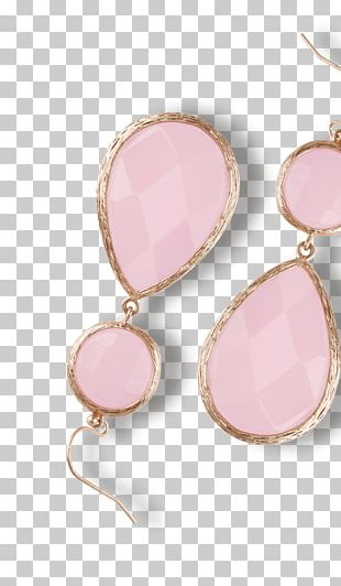 Earring Body Jewellery Gemstone Pink M PNG