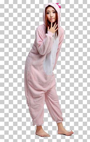 Hello Kitty Pajamas Onesie Kigurumi Sanrio PNG