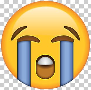 Face With Tears Of Joy Emoji Crying Laughter Sticker PNG