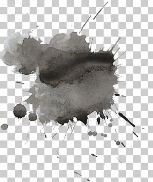 Watercolor Painting Drawing Black And White Ink PNG