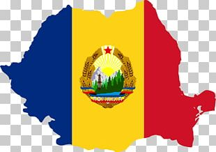 Flag Of Romania Socialist Republic Of Romania Map PNG