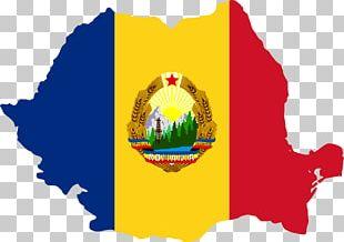 Flag Of Romania Socialist Republic Of Romania Map PNG