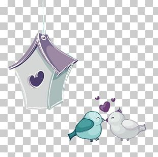 Love Birds Hand-painted PNG