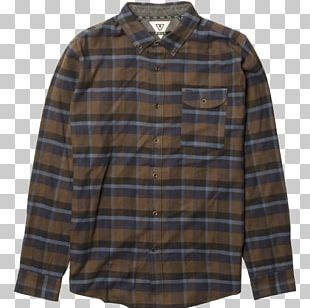 Sleeve Shirt Button Pocket Flannel PNG