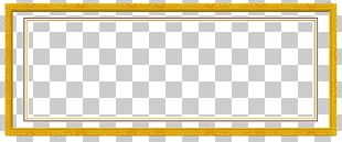 Frame Yellow Pattern PNG