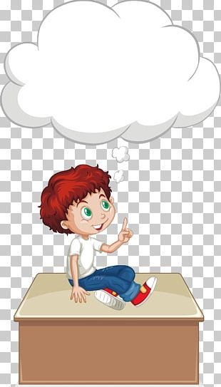 Boy Euclidean Thought Illustration PNG