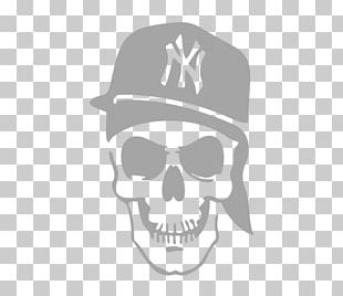 Logos And Uniforms Of The New York Yankees Yankee Stadium Stencil Skull PNG