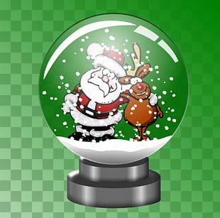 Rudolph Santa Claus Snow Globes Snowman PNG