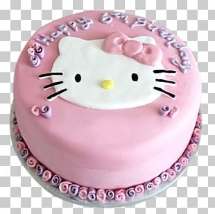 Birthday Cake Hello Kitty Torte Tart Frosting & Icing PNG
