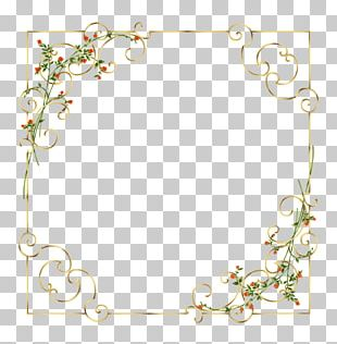 Watercolor Painting Border Frame PNG