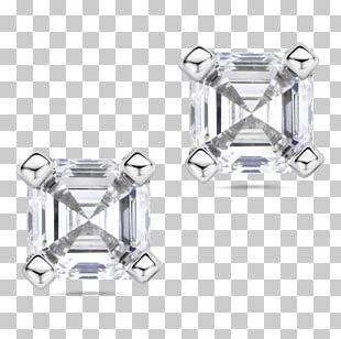 Earring Diamond Cut Brilliant Carat PNG