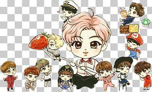 BTS Drawing Fan Art Chibi K-pop PNG