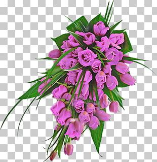 Flower Bouquet Cut Flowers Tulip Floral Design PNG