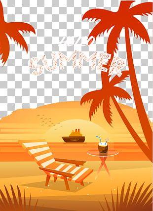 Beach Summer Vacation Illustration PNG