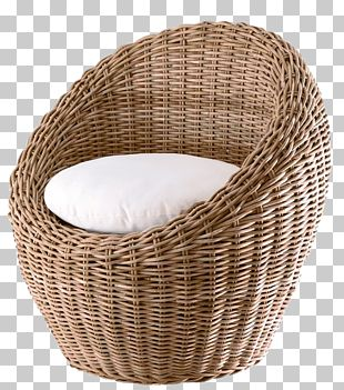 Table Chair Wicker Rattan PNG