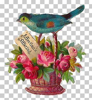 Bird Nest Flower Valentine's Day PNG