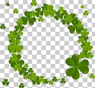 Four-leaf Clover Shamrock Saint Patricks Day PNG