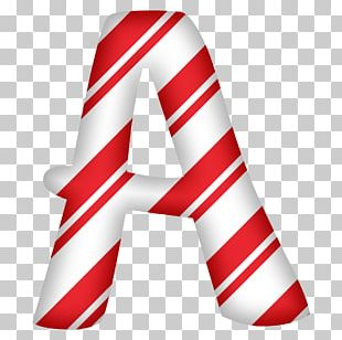 Candy Cane Letter Alphabet Paper PNG