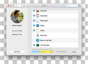 MacBook Pro Find My IPhone ICloud MacOS PNG