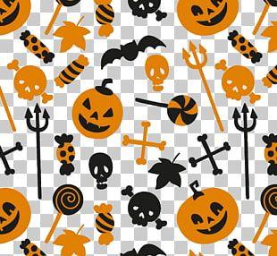Halloween Orange Color Pattern PNG