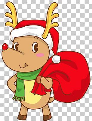 Rudolph Santa Claus Hat Christmas SantaCon PNG