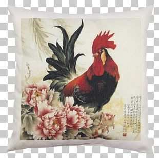 China Chinese Painting Rooster Chicken PNG