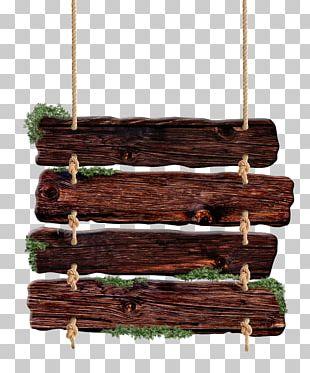 Wood Nameplate Billboard Advertising PNG