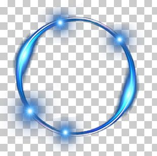Blue Ring Light Effect PNG