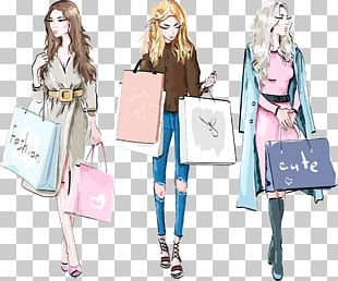 Fashion Drawing Shopping PNG