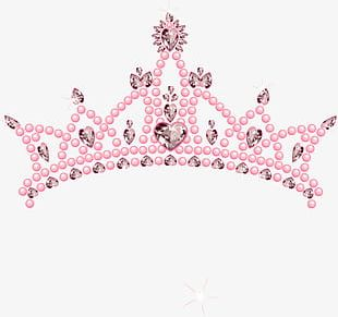 Pink Balloon Crown PNG