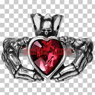 Earring Claddagh Ring Jewellery Alchemy Gothic PNG
