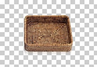 Wicker Rattan Basket Tray Box PNG