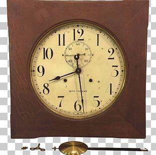 Thomaston Mantel Clock Pendulum Clock Antique PNG