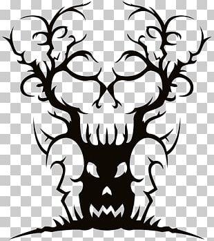Tree Spooky Halloween PNG