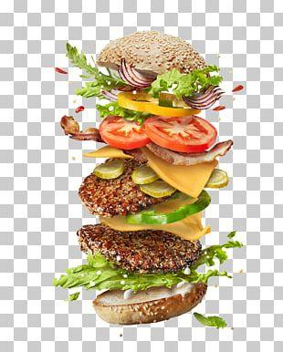 Hamburger Cheeseburger French Fries Veggie Burger Ingredient PNG