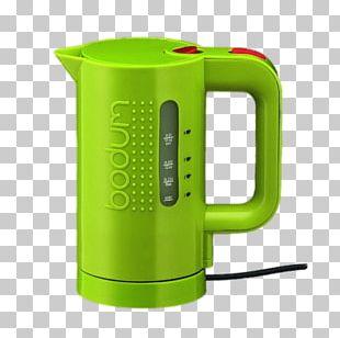 Green Bodum Kettle PNG