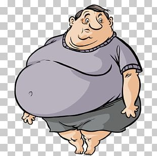 Fat Cartoon Man PNG