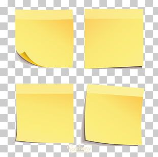 Paper Post-it Note Sticker Font PNG