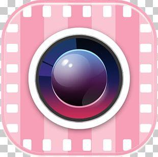 Camera Lens Eye Pink M PNG