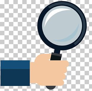 Computer Mouse Magnifying Glass Hand Icon PNG