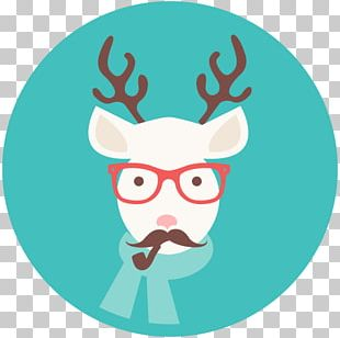 Reindeer Hipster Play Blackjack Christmas PNG