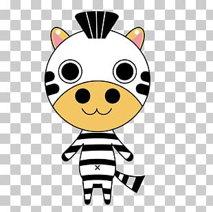 Cattle Zebra Cartoon Illustration PNG