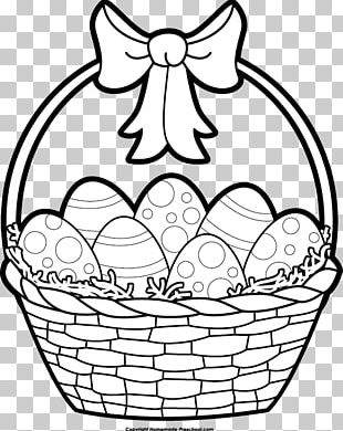 Easter Bunny Easter Egg Black And White PNG