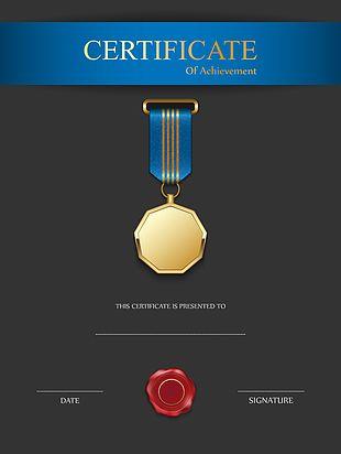 Template Academic Certificate Résumé PNG