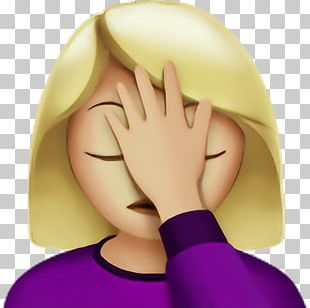 Apple Color Emoji Facepalm Female IPhone PNG