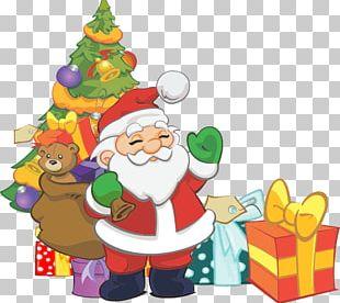 Santa Claus Christmas Dinner Gift PNG